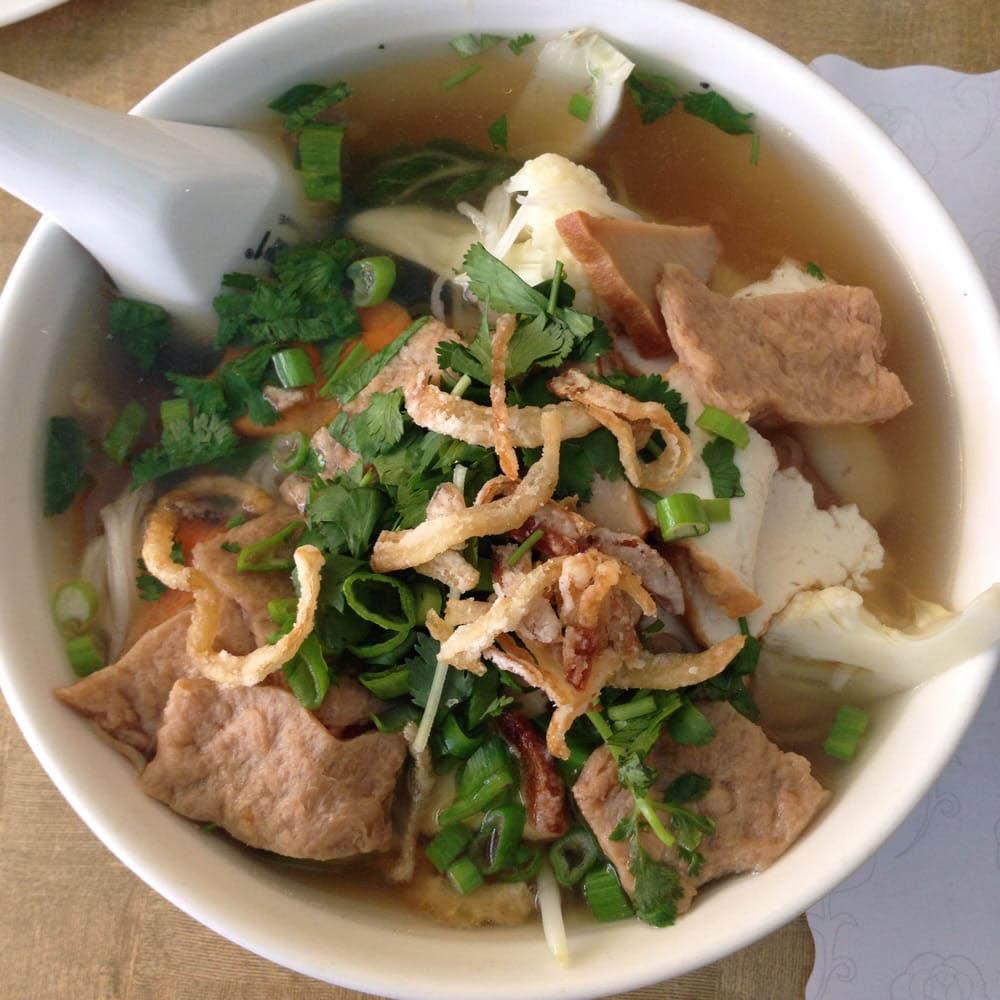 Veggie Today Vietnamese Restaurant bowl of rice noodle soup