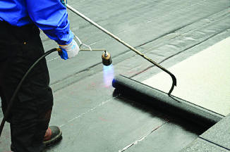 Torch down roofing services for flat roofs
