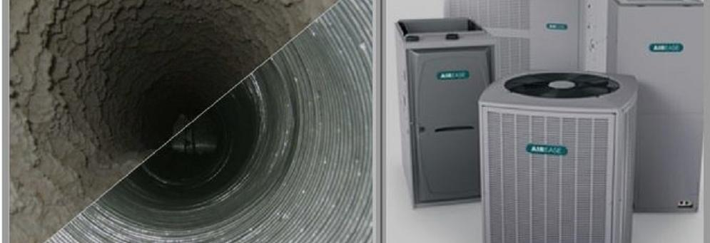 before/after photo of air duct - AC units from Vent Corp Pollard Heating and Cooling in Dearborn, MI