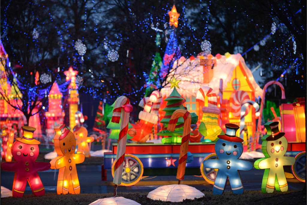 Gingerbread exhibit at Vernon Lights Festival in Vernon NJ