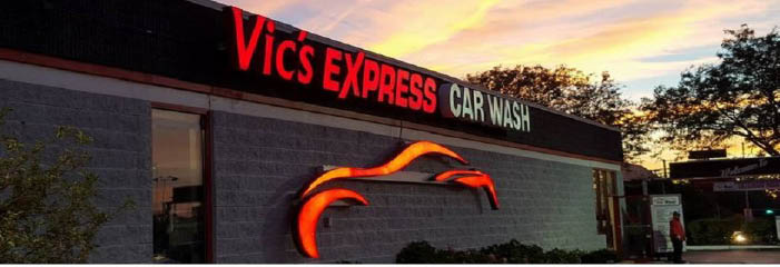 Vic's Express Car Wash in Bolingbrook, IL banner