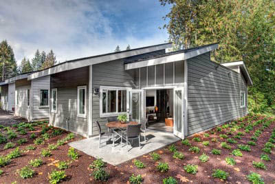 Private cottages nestled in a wooded setting at Village Concepts of Issaquah, WA - Spiritwood Garden Homes - Issaquah retirement communities near me