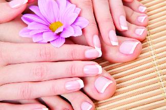 Example of a pedicure from TJ Nails in Franklin, TN.