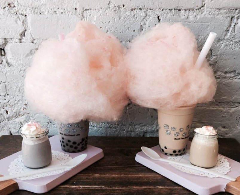 cotton candy treat & milk tea vivi bubble tea glassboro, nj