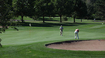 On the links at Voyager Village in Danbury, WI