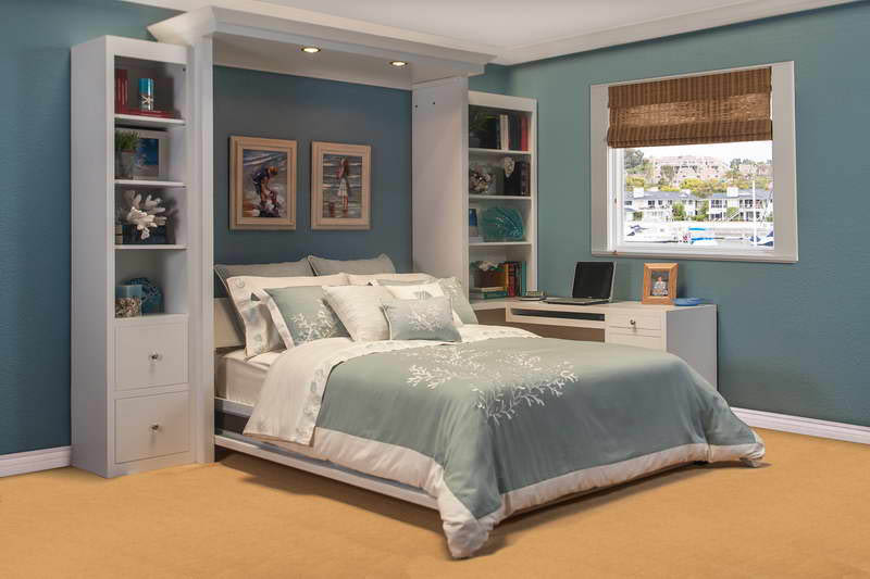 Bedroom with custom wallbed at Wallbeds