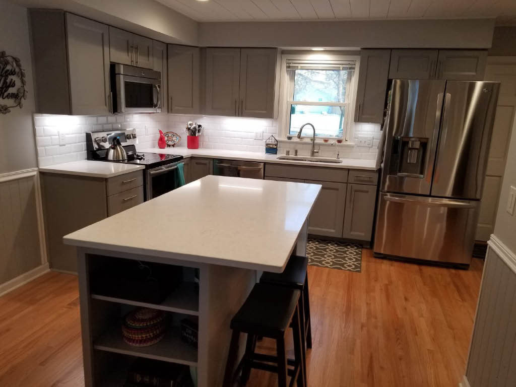 We Do Kitchens 2 Remodel with Island Greenfield, WI