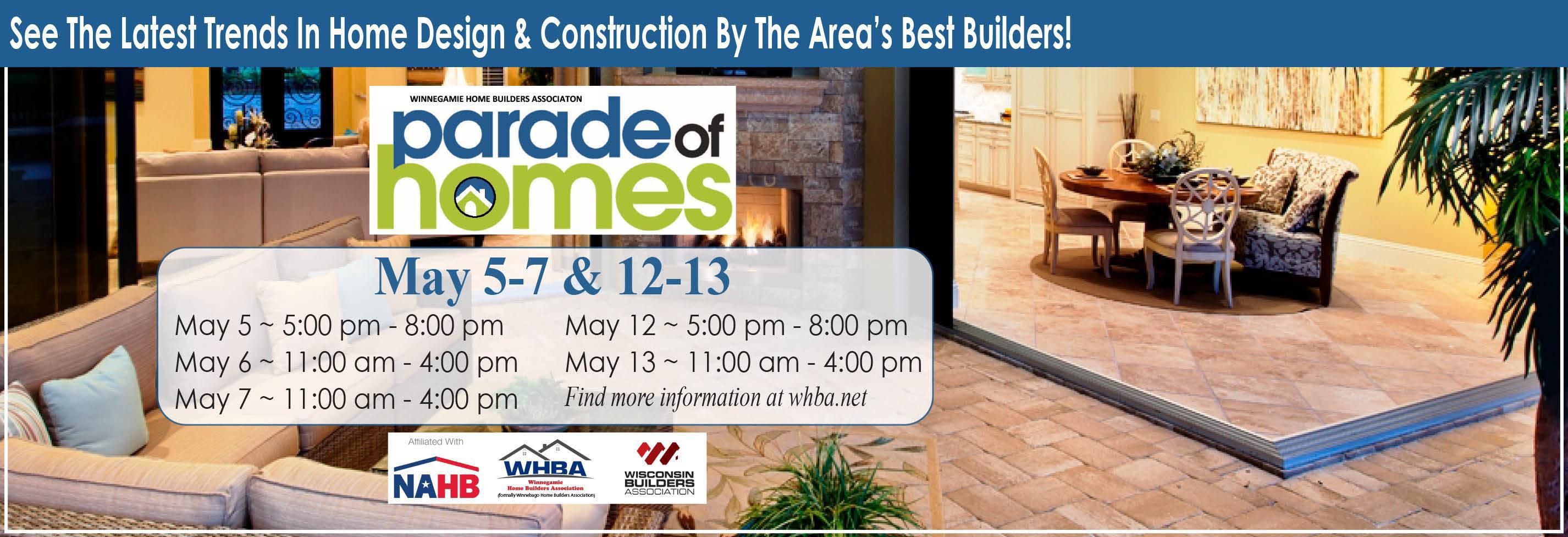 Home Builders, Parade of Homes, Builder, WHBA, Winnebago, Association