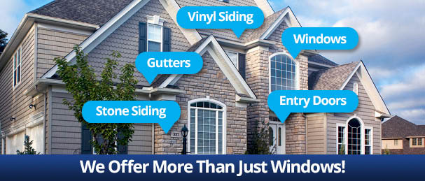 Window World provides window replacement, gutters, vinyl siding, entry doors and gutters