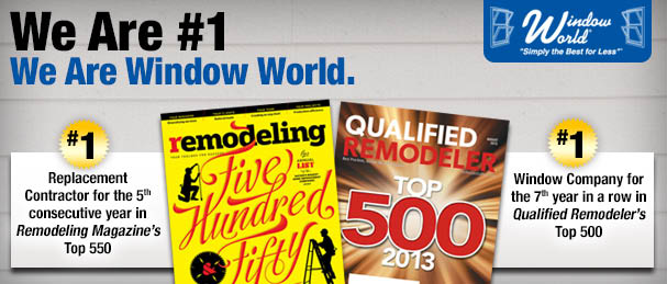 Window World of the No. 1 window replacement company for seven consecutive years