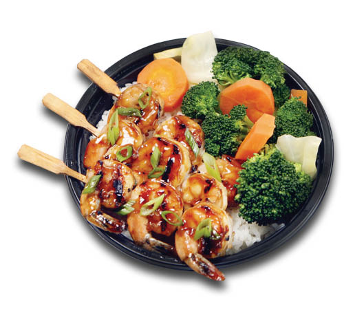 grilled teriyaki chicken, Asian rice bowl ,Asian bowl, sushi rice bowl, asian salmon dish