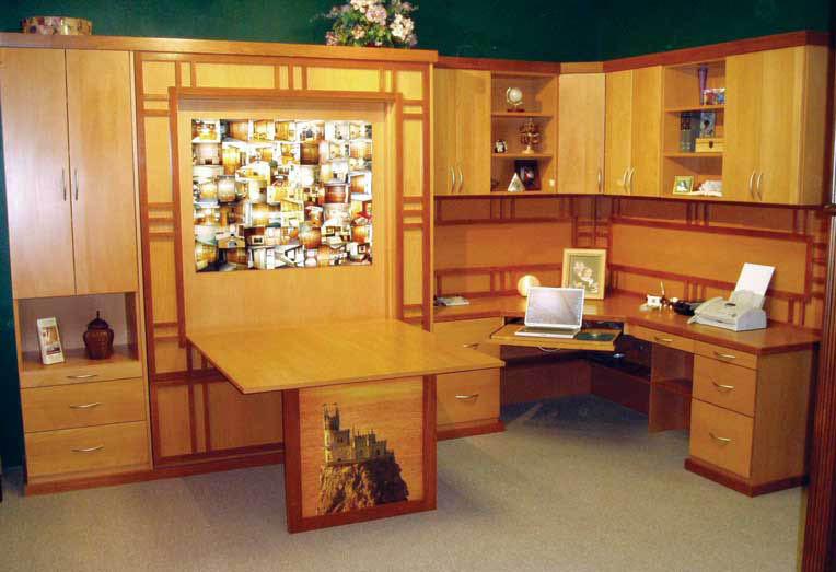Custom home office designed by Wallbeds and Closets NW - Redmond, Washington - Seattle, Washington