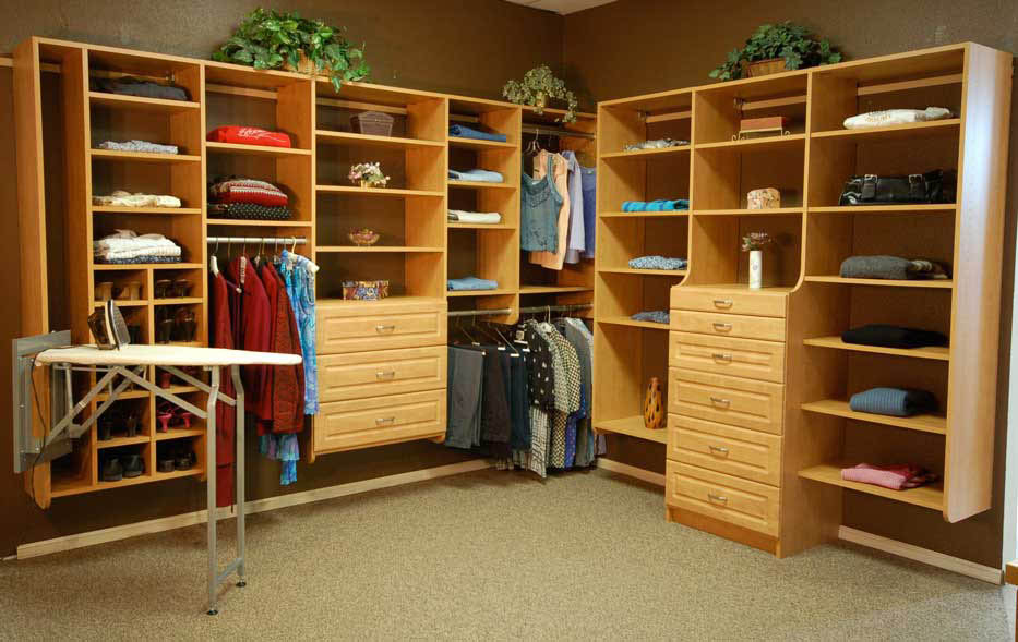 Gorgeous closet designed by Wallbeds and Closets Northwest in Redmond, WA and Seattle, WA - custom closet design