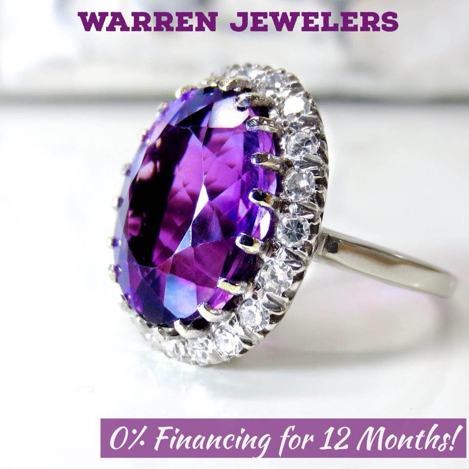 Warren Jewelers offers 0% financing for 12 months - custom jewelry design - jewelry manufacturing - jewelry repair - Kirkland, WA - Burlington, WA