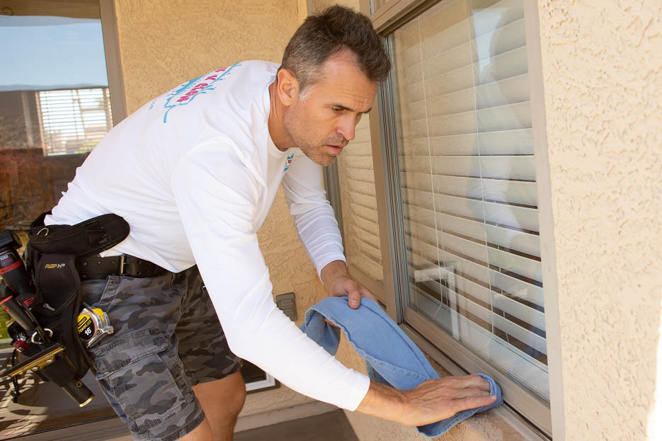 dirty window cleaning service dust storm window repair