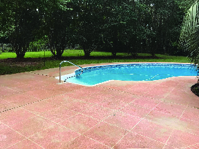 pressure wash pool deck