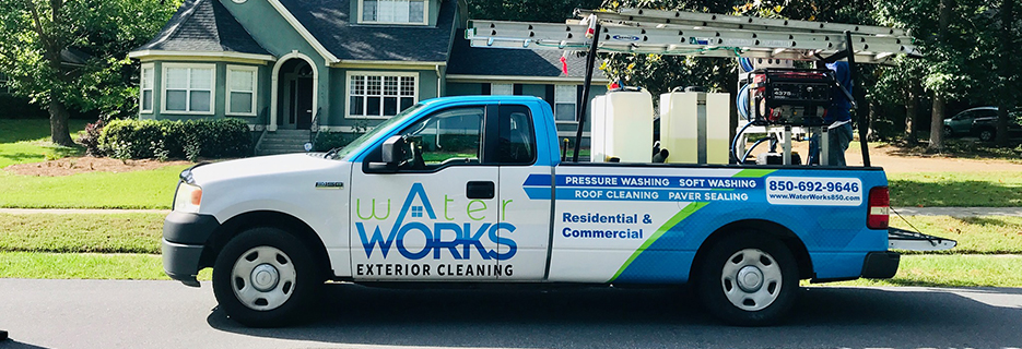 Water Works Exterior Cleaning banner Tallahassee, FL