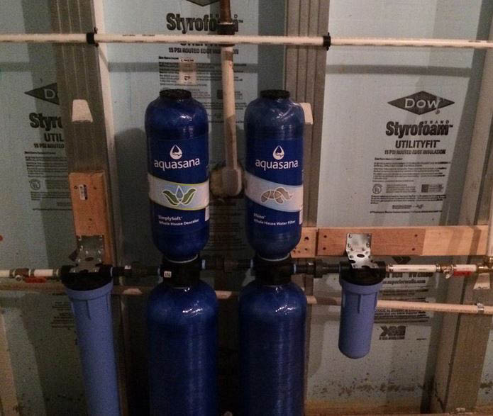 Whole house water filtration system installation