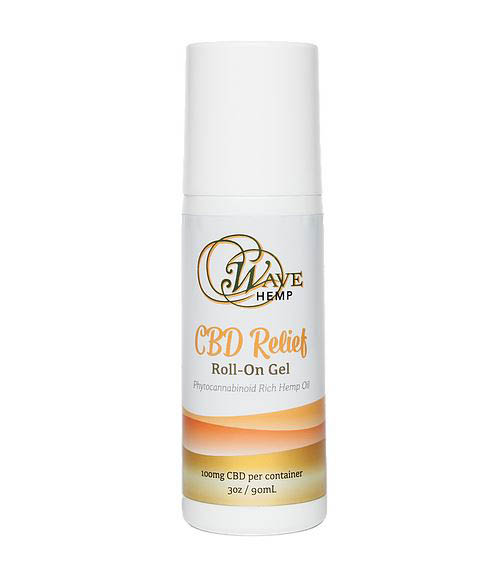 Instant relief from this convenient Wave Hemp CBD roll-on gel - deep penetrating relief for minor aches, sore muscles & joints, strains, stiffness & arthritis - CBD coupons near me - organic certified American hemp