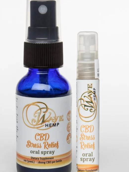 Fast acting CBD oral spray from Wave Hemp CBD - CBD coupons near me - organic clean hemp derived CBD grown in the USA - promotes relaxation and calm