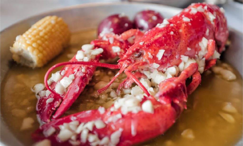 Hook & Reel, Lobster, Cajun boil, clams, oysters, crab, fried fish, Lobster boil in butter garlic sauce, Falls Church, VA