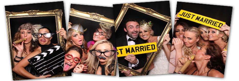 Fun in our photo booth with our photo booth props