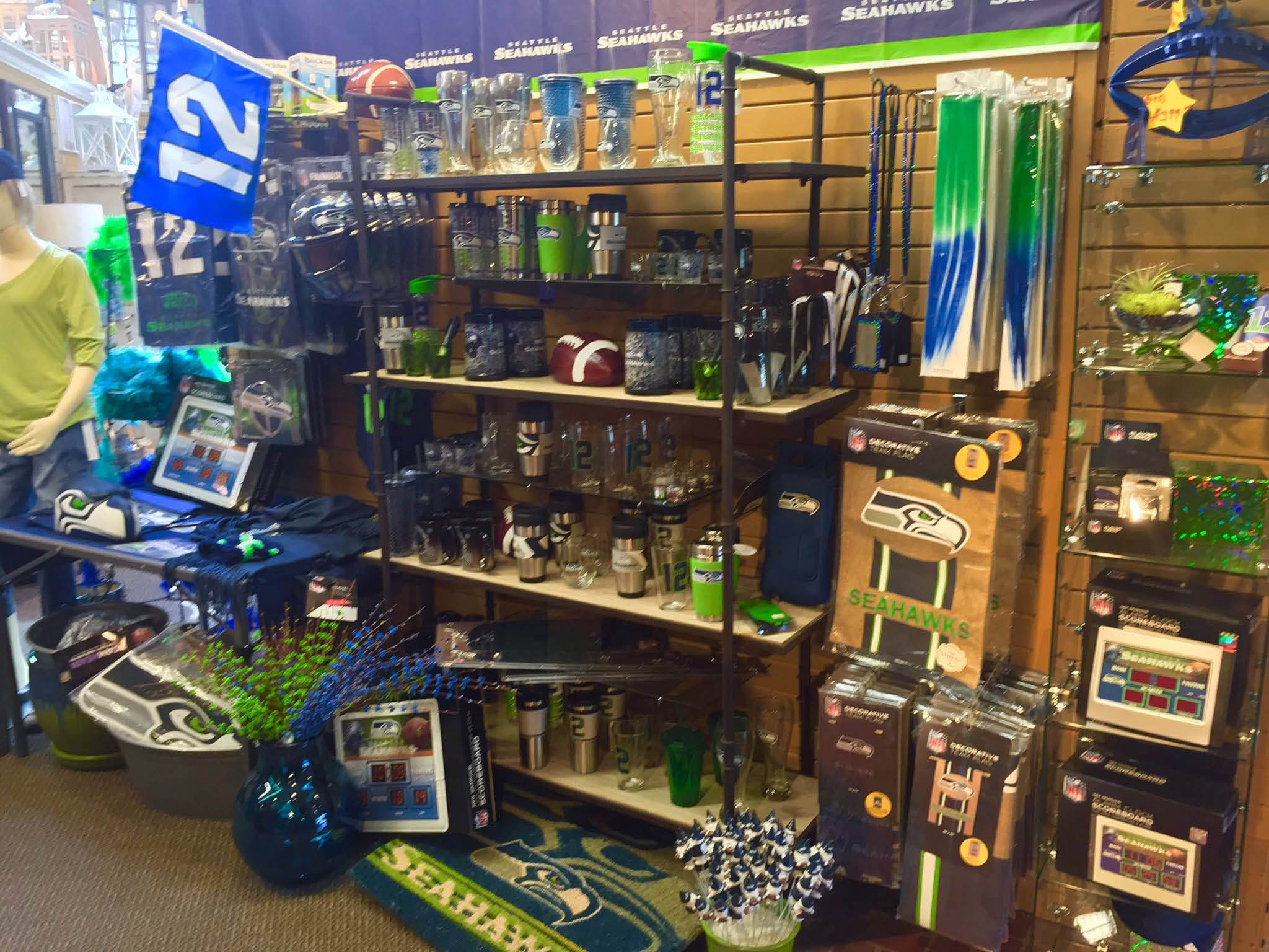 Wight's in Lynnwood has a huge selection of Seahawks gifts - Seahawks merchandise