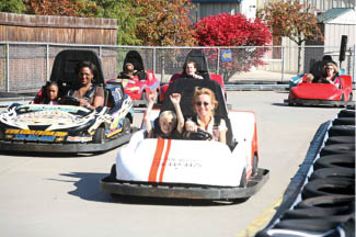 go carts fun at Wildwood Highlands in Wildwood PA north of Pittsburgh PA amusement party birthday