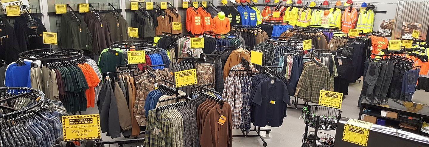 Willy's Discount Workwear banner image - Federal Way, WA - Kent, WA