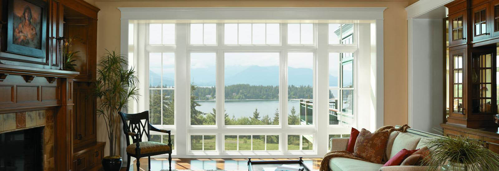 Large open expanse of windows offers maximum viewing banner