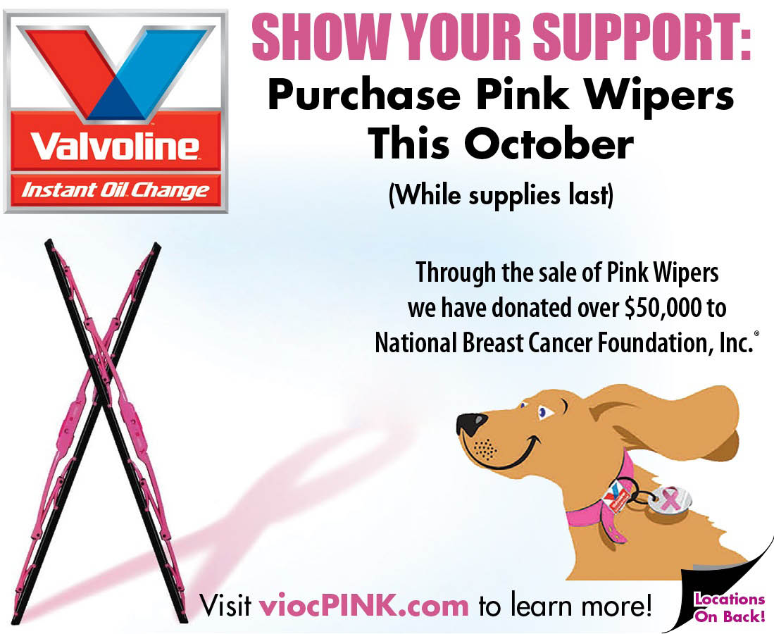 Wipe Out Cancer with your purchase of Pink Wiper Blades