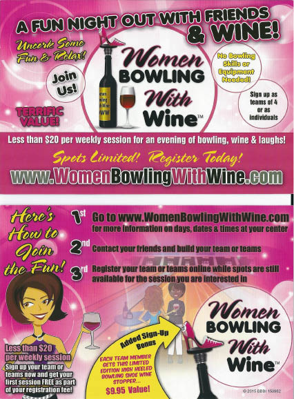 Wine and spirits at bowling alley near Mehlville