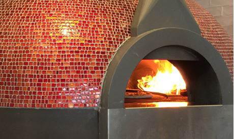 Wood fire oven at Italian Pizzeria