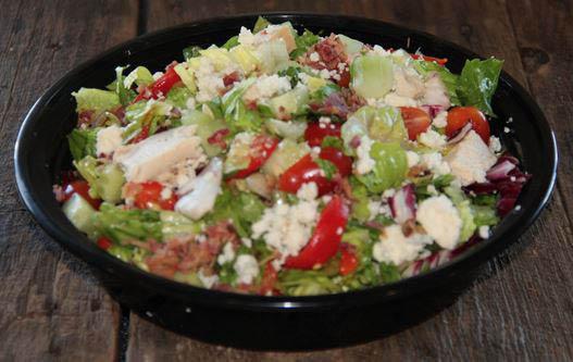 Italian salad made fresh at Woodgrain Pizza Restaurant in Westmont IL
