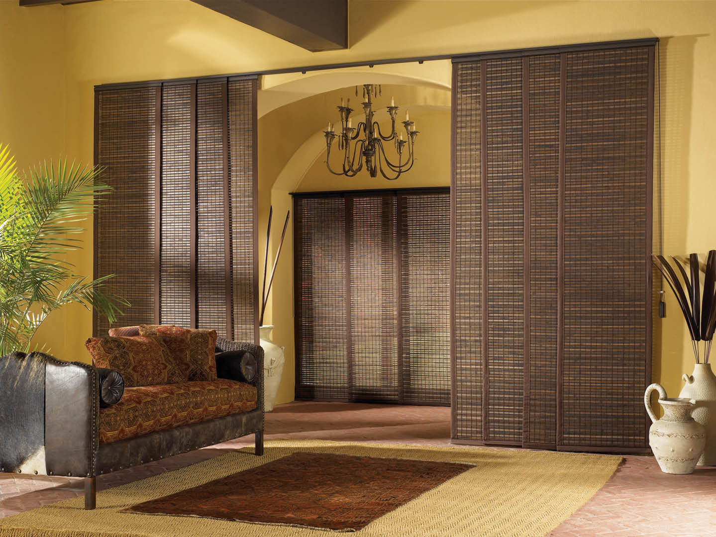 Bamboo blinds are all the rage in Brentwood, CA.