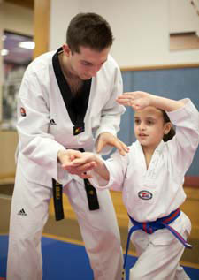We offer Tae Kwon Do instruction to 4 and 5 year old children