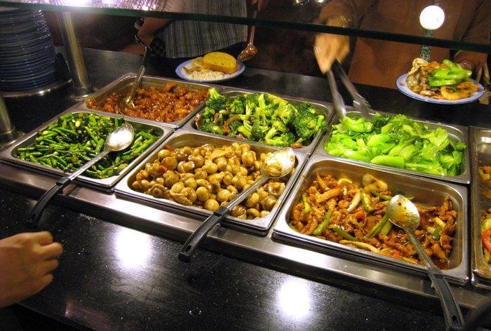 World Gourmet Buffet Fremont, CA buffet table with vegetables image