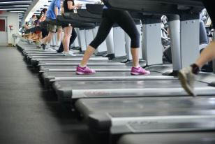 people exercising on treadmills at the YMCA Staten Island, NY