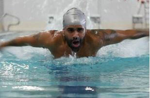male swimmer in the YMCA pool