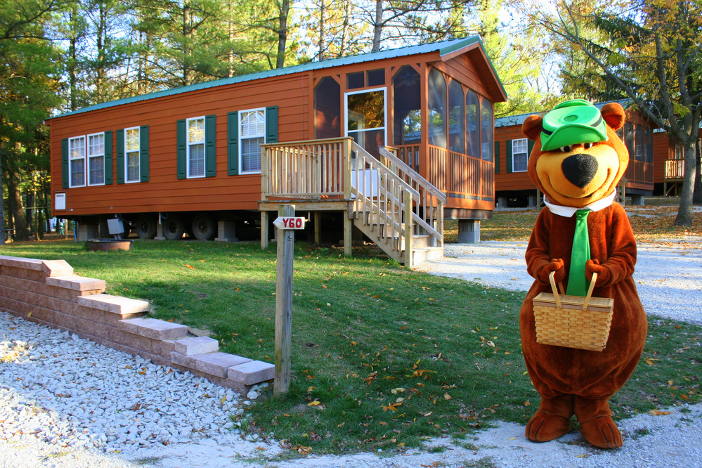 Picture of Jellystone Park Camp-Resort cabin,near Milwaukee, Wisconsin, that sleeps up to 8