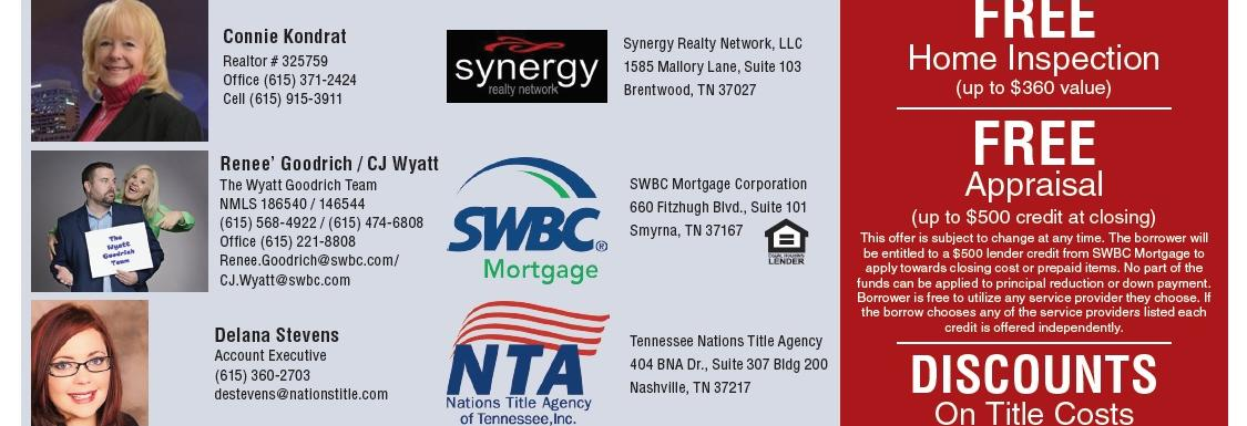 Connie Kondrat, Realtor, Synergy Realty Network, Brentwood, TN banner