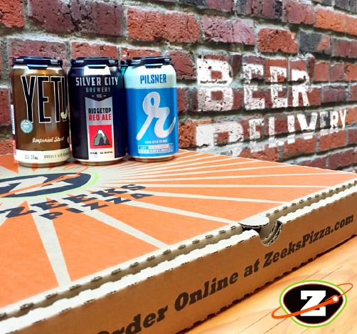 Zeeks Pizza delivers beer and pizza - pizza and beer delivery - beer and pizza delivery in Bellevue and Kirkland, WA