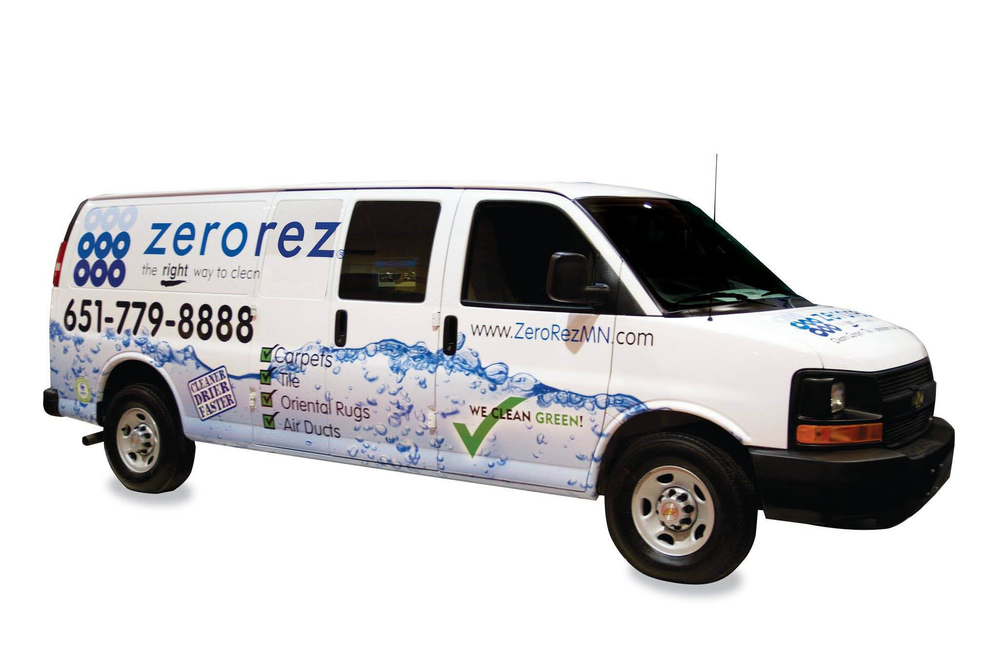 ZeroRez Carpet Cleaning van