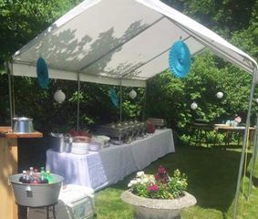 photo of outdoor banquet from Zio's Catering in Washington Twp, MI