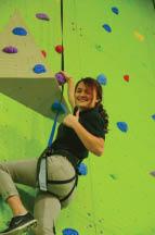 zip city rock wall climbing at sports plus cincinnati ohio