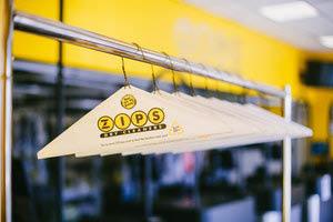 Zips Dry Cleaners hangers