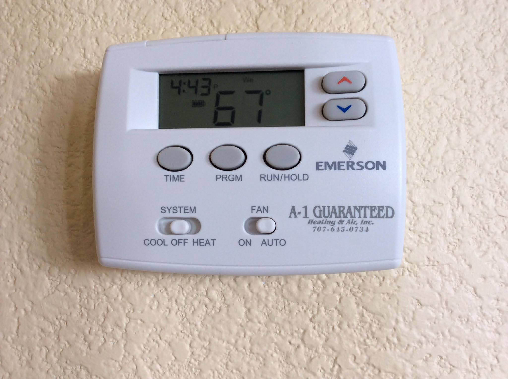 Energy efficient thermostat by Emerson