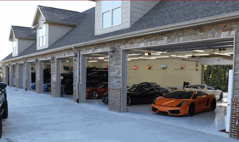 A 1 garage door repair systems of michigan in royal oak for How big is a two car garage door