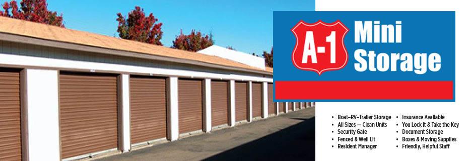 A-1 Mini Storage in Santa Rosa, CA banner