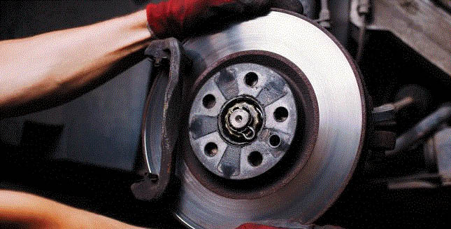 Picture of brakes being fixed at A1 Quality Auto Repair & Transmission